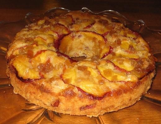 Fresh Nectarine-Ginger Cake
