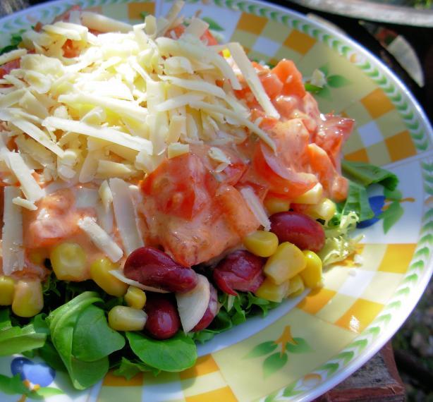 Low Fat Southwestern Layered Salad