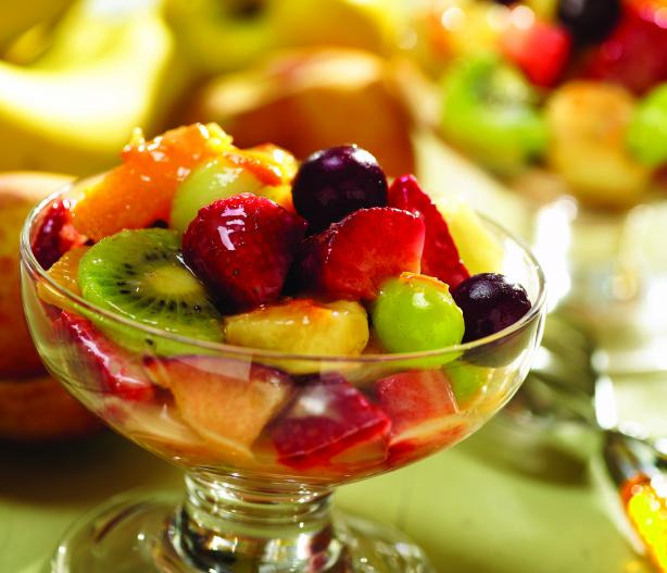 Caramel Orange Fruit Salad