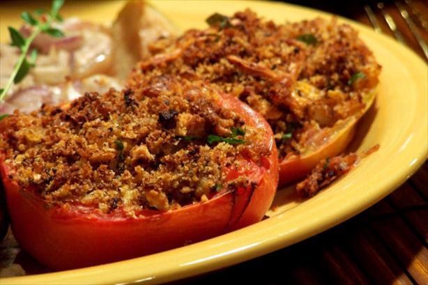 Cheddar Stuffed Tomatoes