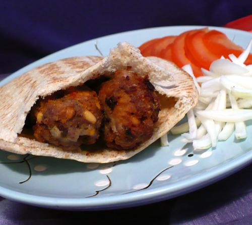Kofte in Pita Pockets