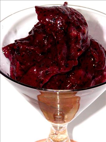 Beautiful Blueberry Sorbet