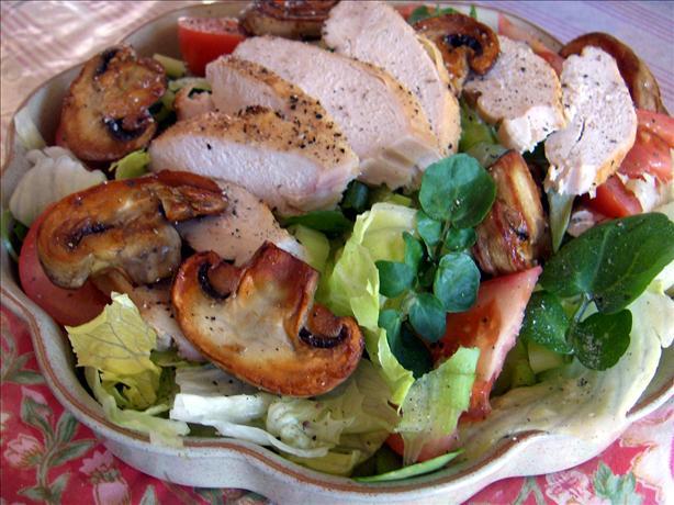 Chicken Salad With Sauteed Mushrooms