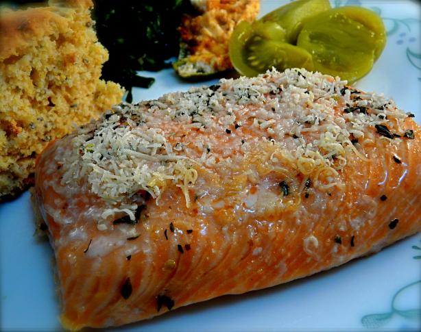 Parmesan Encrusted Salmon Fillet