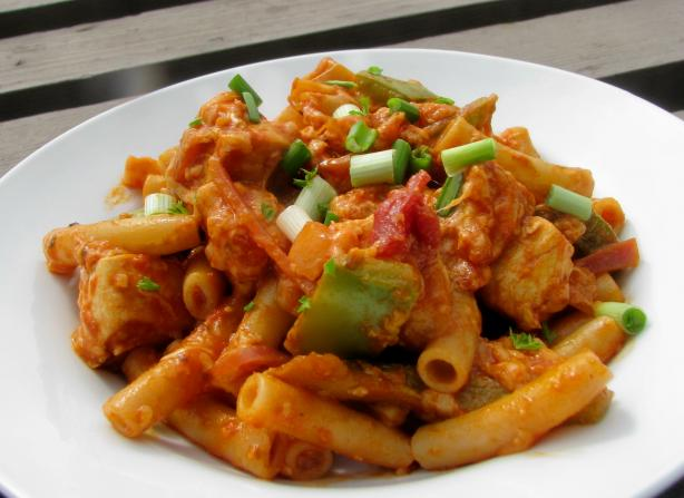Barbecued Chicken Pasta