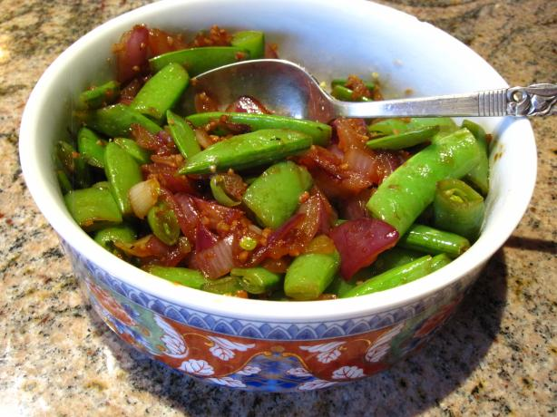 Snap Peas and Red Onions
