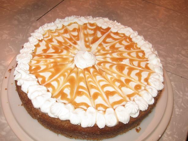 Swirled Pumpkin and Caramel Cheesecake