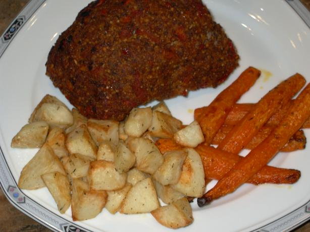 Tomato Mustard Crusted Beef