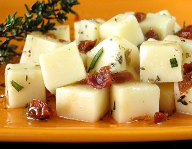 Marinated Mozzarella Cubes
