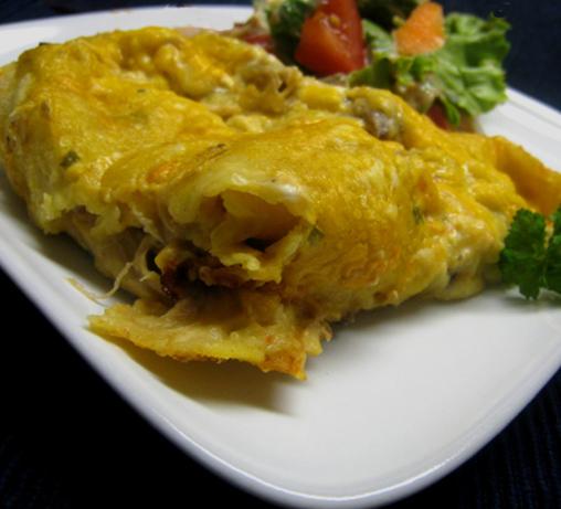 Chicken or Turkey-Mushroom Enchiladas