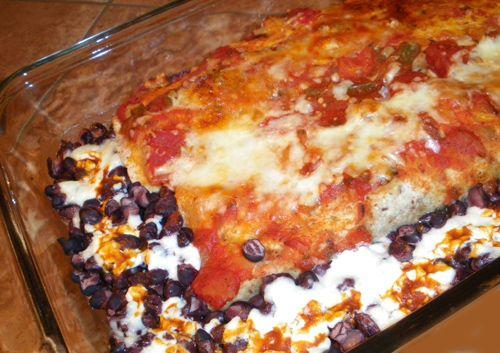 Leftover Chicken/Turkey Enchiladas With Black Beans