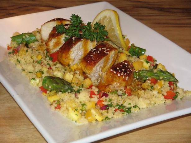 Lemon Chicken With Honey and Saffron, Elegant and Good!