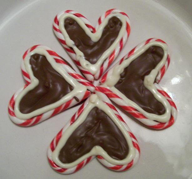 Peppermint Bark Hearts