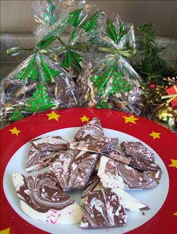Chocolate Marble Candy Cane Bark