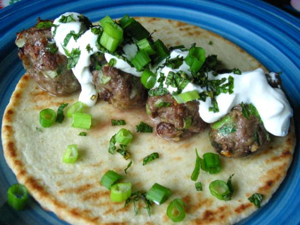 Lamb Meatball Gyros With Yogurt and Mint - Real Simple Mag -