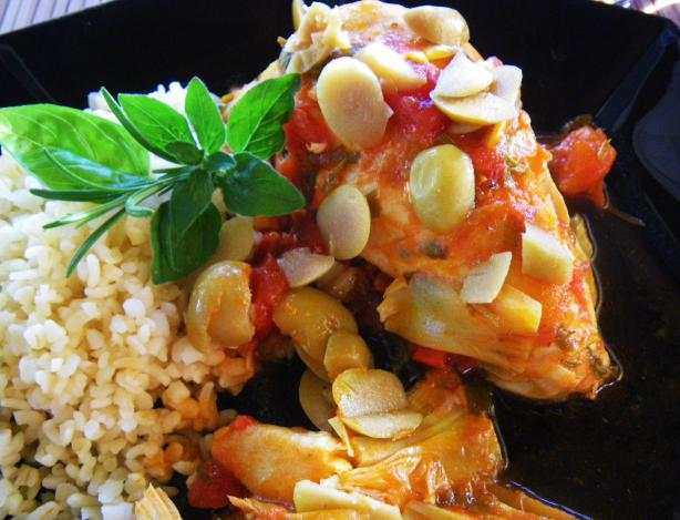 Chicken in Tomato Artichoke Sauce