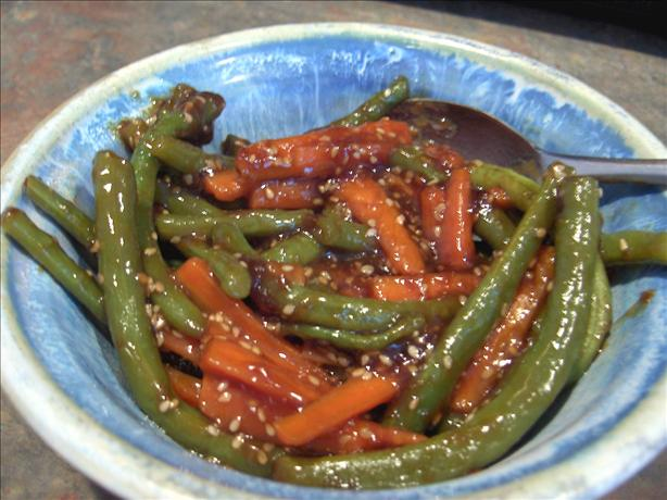 Green Beans and Carrots With Teriyaki Sauce