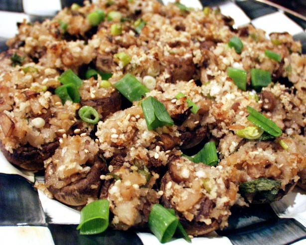 Panko Stuffed Mushrooms - Asian Style