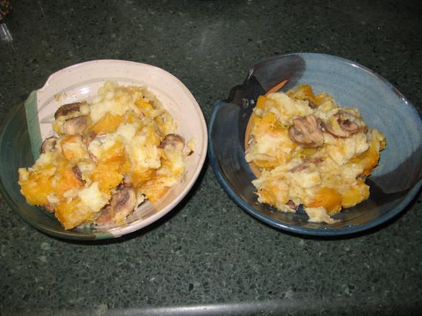 Potato Gnocchi With Butternut Squash and Wild Mushrooms