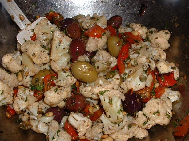 Cauliflower Olive Antipasto Salad