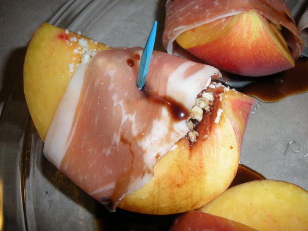Peach and Prosciutto Appetizer