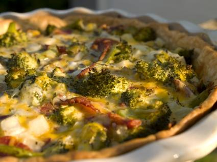 Broccoli & Bacon Quiche