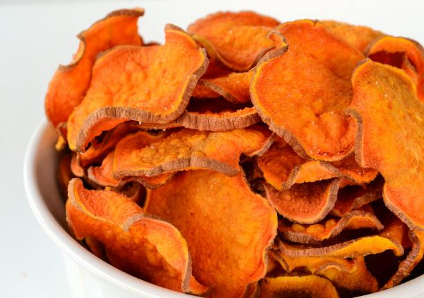 Guilt Free Sweet Potato Chips