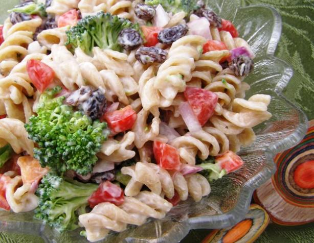 Broccoli, Raisin, Pasta Salad
