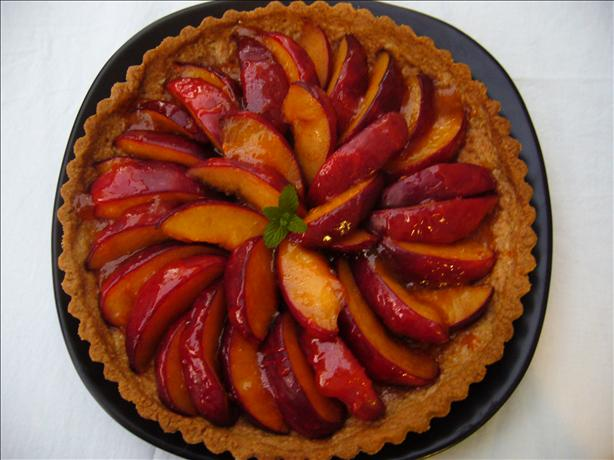 Plum Tart With Ginger Crust