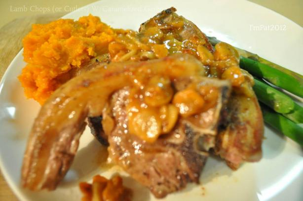 Lamb Chops (Or Cutlets) W/Caramelized Garlic