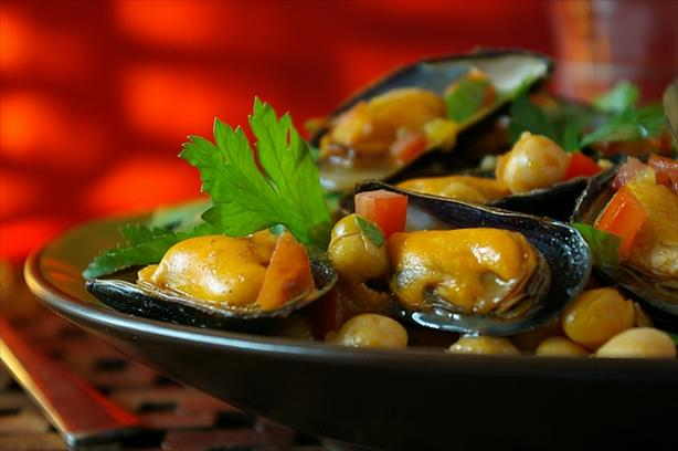 Moroccan Style Mussels
