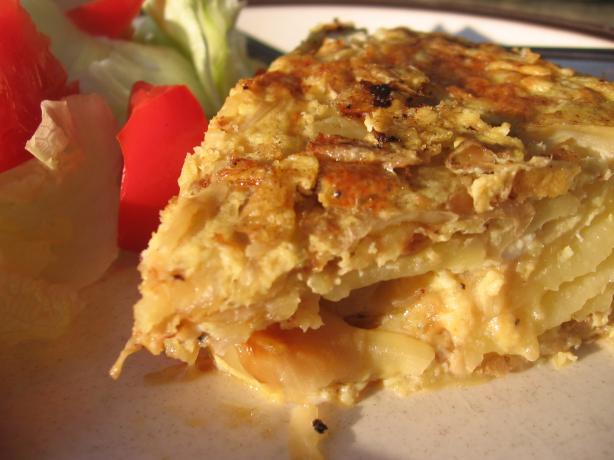 Tortilla Espanola (Traditional Spanish Potato Omelete).