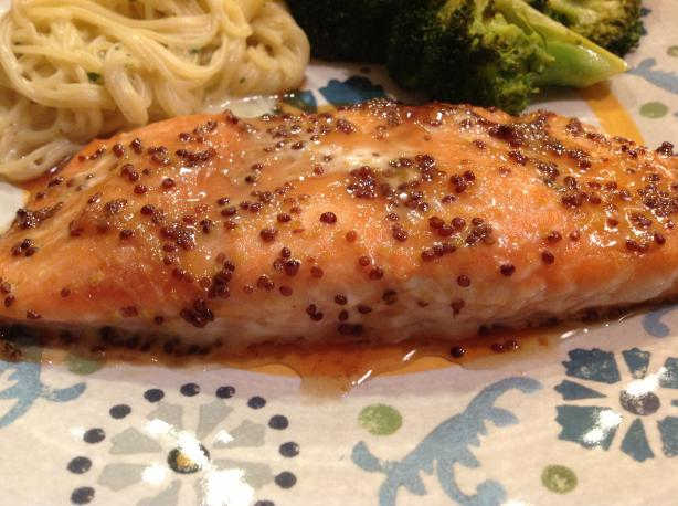 Maple Glazed Salmon [ or Trout ]