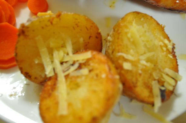 Cheesy Hockey Puck Potatoes With Dill