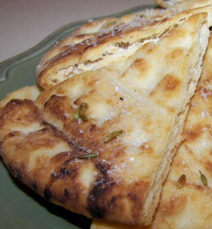 Fennel and Sea Salt Pita Bread Crisps