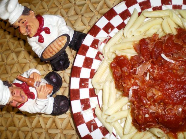 Penne With Tomato Prosciutto Sauce