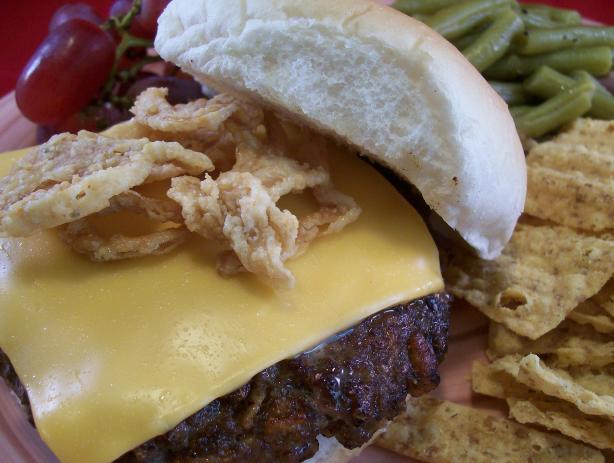 Crunchy Onion Cheeseburger