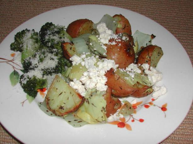Roasted Potatoes With Artichokes and Feta