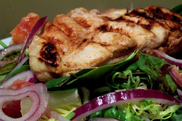 Grilled Chicken Salad With Raspberry Vinaigrette