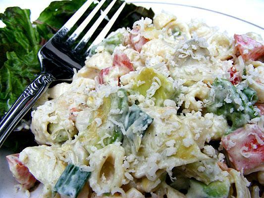 Avocado Caesar Pasta Salad
