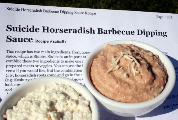 Suicide Horseradish Barbecue Dipping Sauce