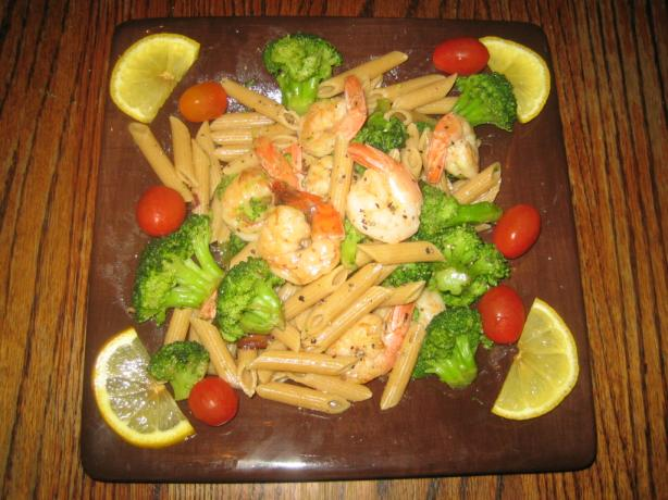 Penne With Shrimp Broccoli & Chili Oil