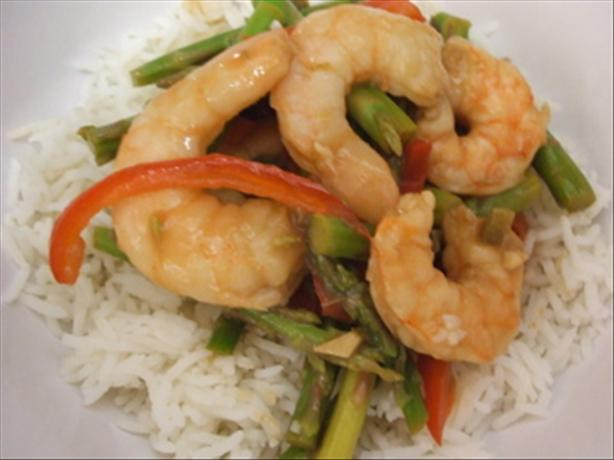 Lime Shrimp With Asparagus