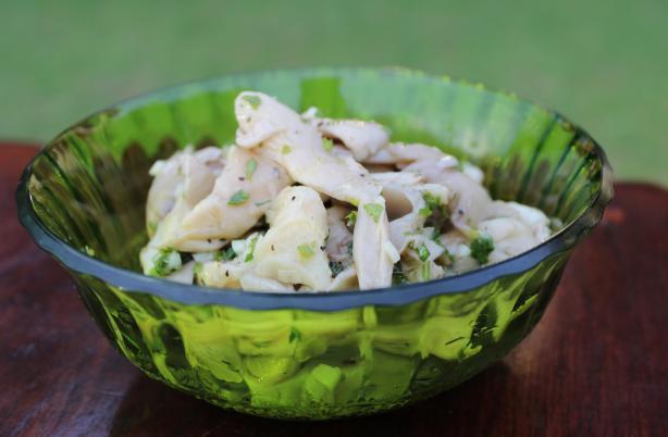 Funghi marinati (marinated oyster mushrooms)