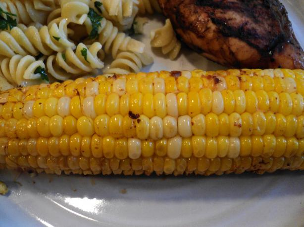 Cheesy Barbecued Corn on the Cob