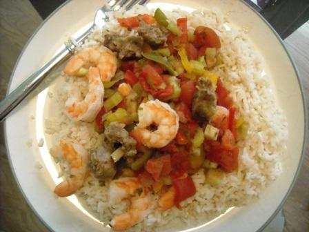 Slow Cooker Shrimp & Sausage Jambalaya
