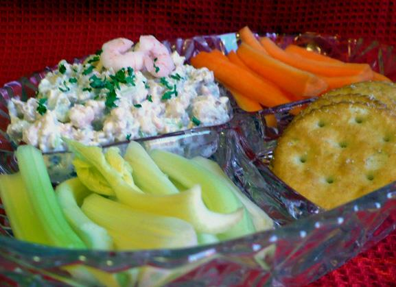 Low Calorie Seafood Dip With Walnuts