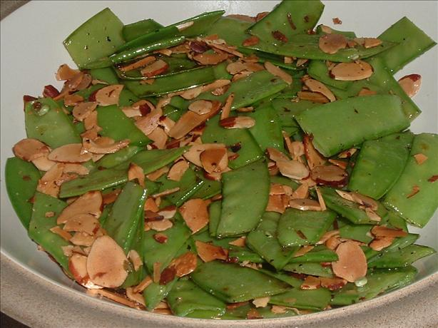 Slivered Snow Peas With Almonds