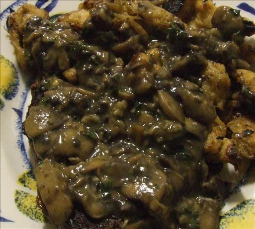 Mushroom Wine Sauce For Steaks