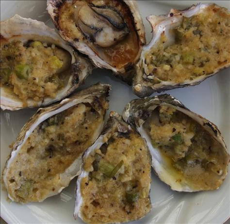 BBQ Oysters With Ginger